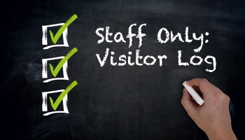 staff only: visitor log