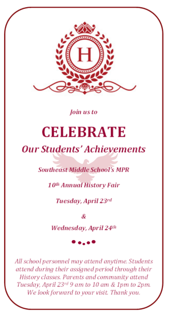 Join us at the History Fair!