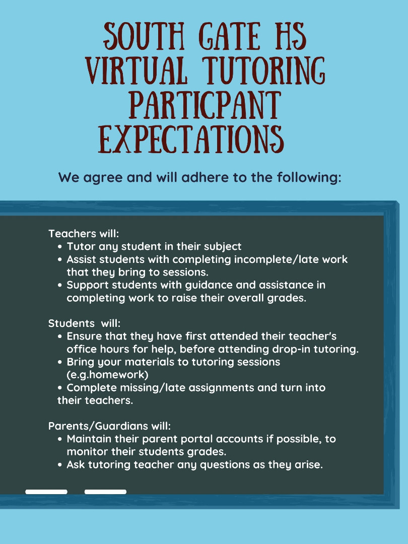Tutoring Expectations