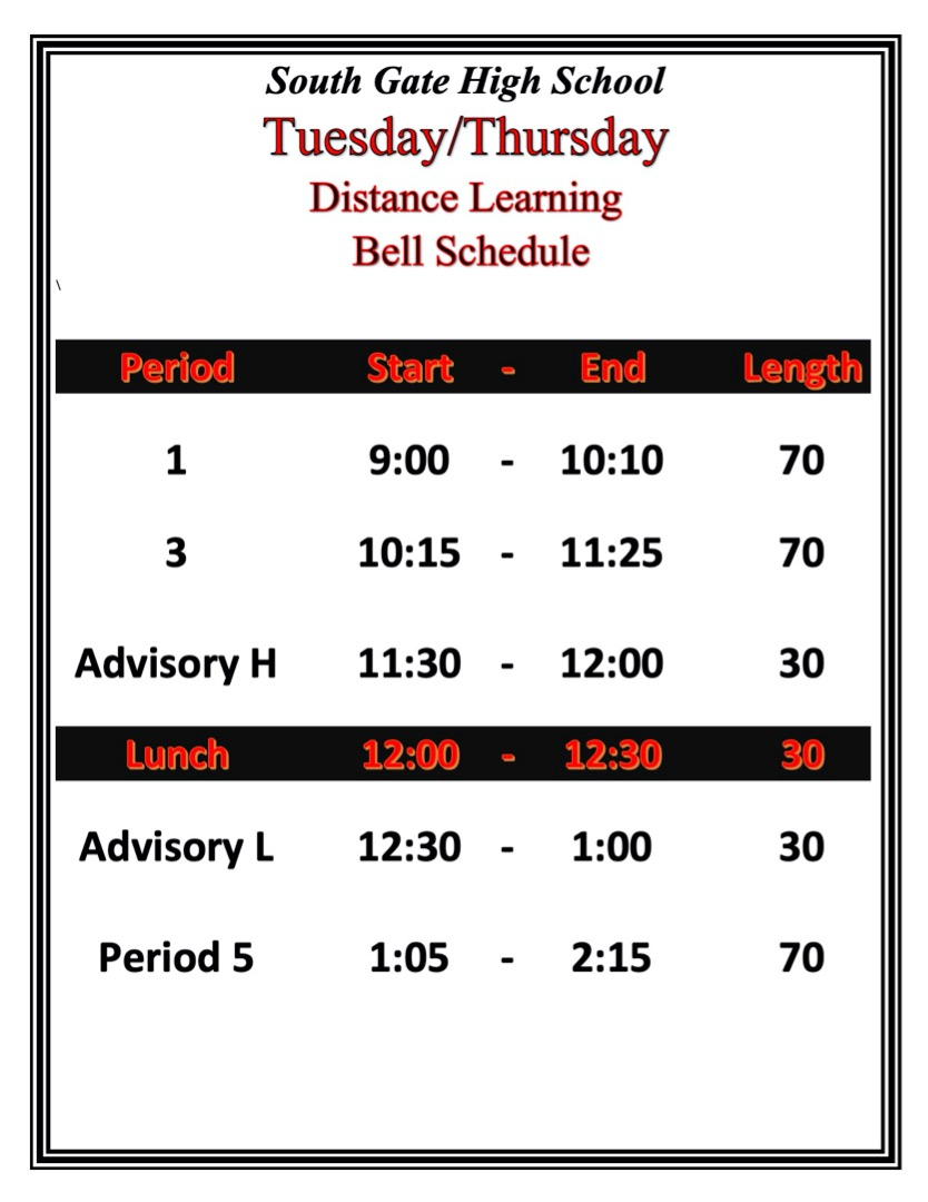 June 4th Bell Schedule