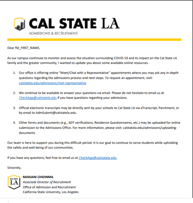 Cal State Admissions