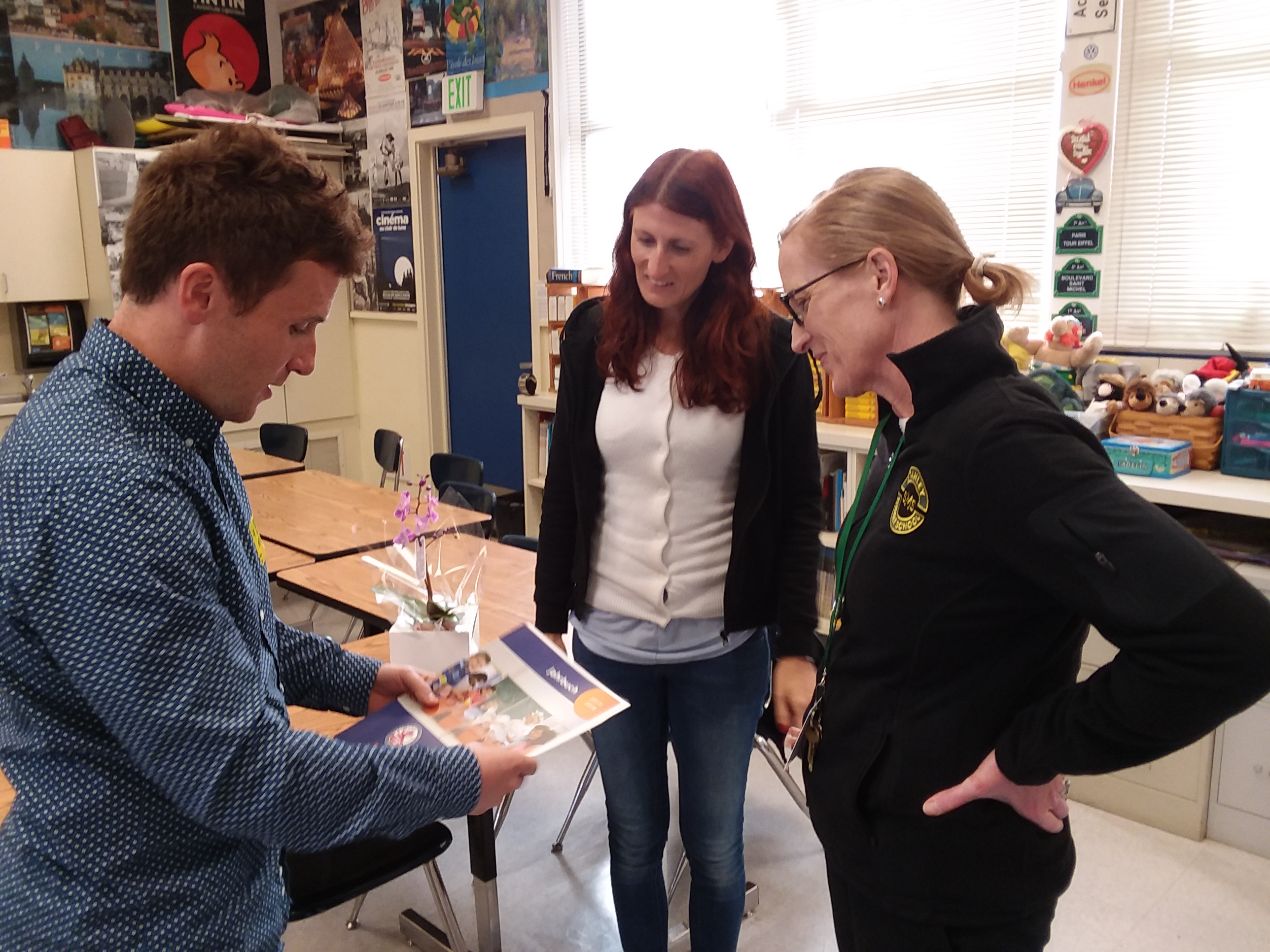 Visit by the principal with the teachers from Englisches Institut