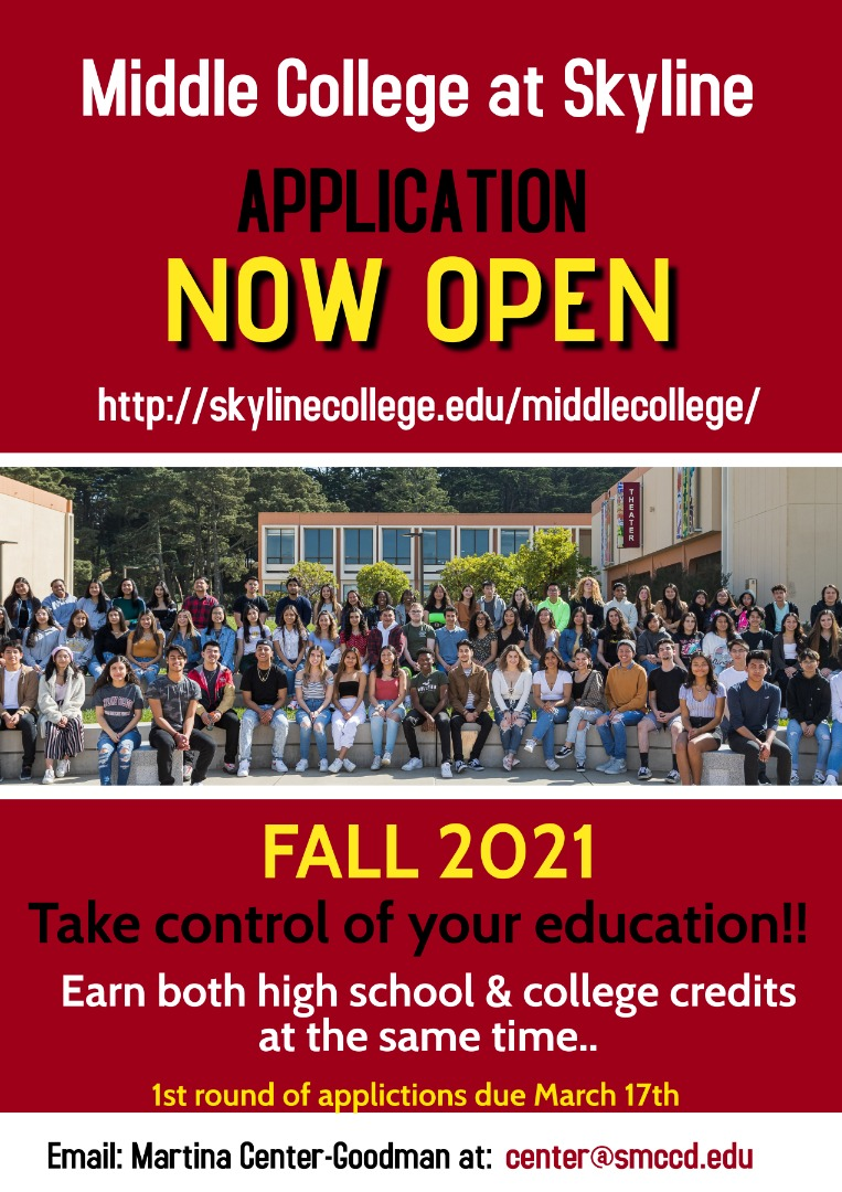 Apply for Middle College at Skyline College