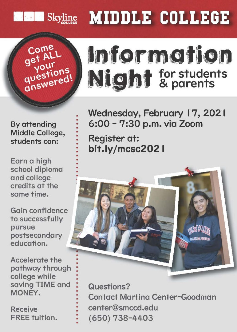Middle College Information Night
