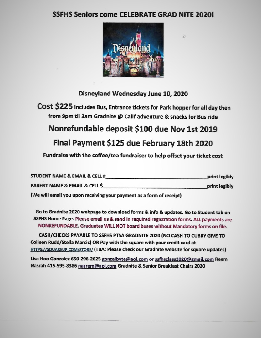 image of grad nite flyer 2020