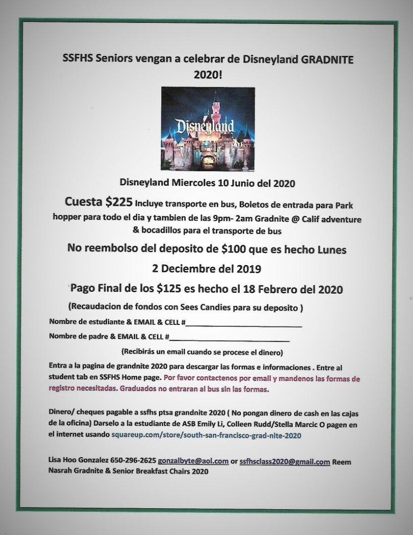 Flyer en Espanol (in Spanish)