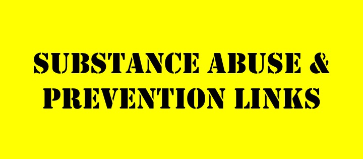 substance abuse and prevention links