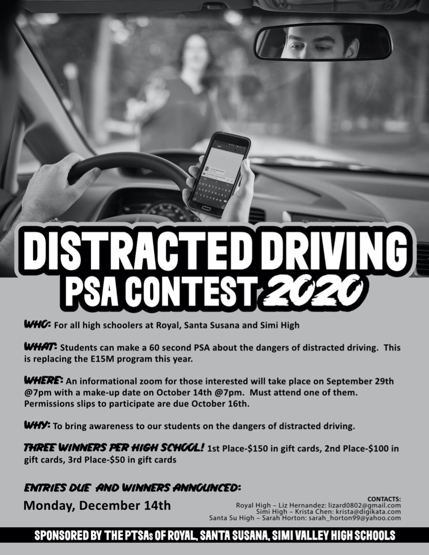 Distracted Driver PSA Contest Flyer