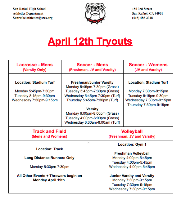Red Tier Sports - Tryout Information