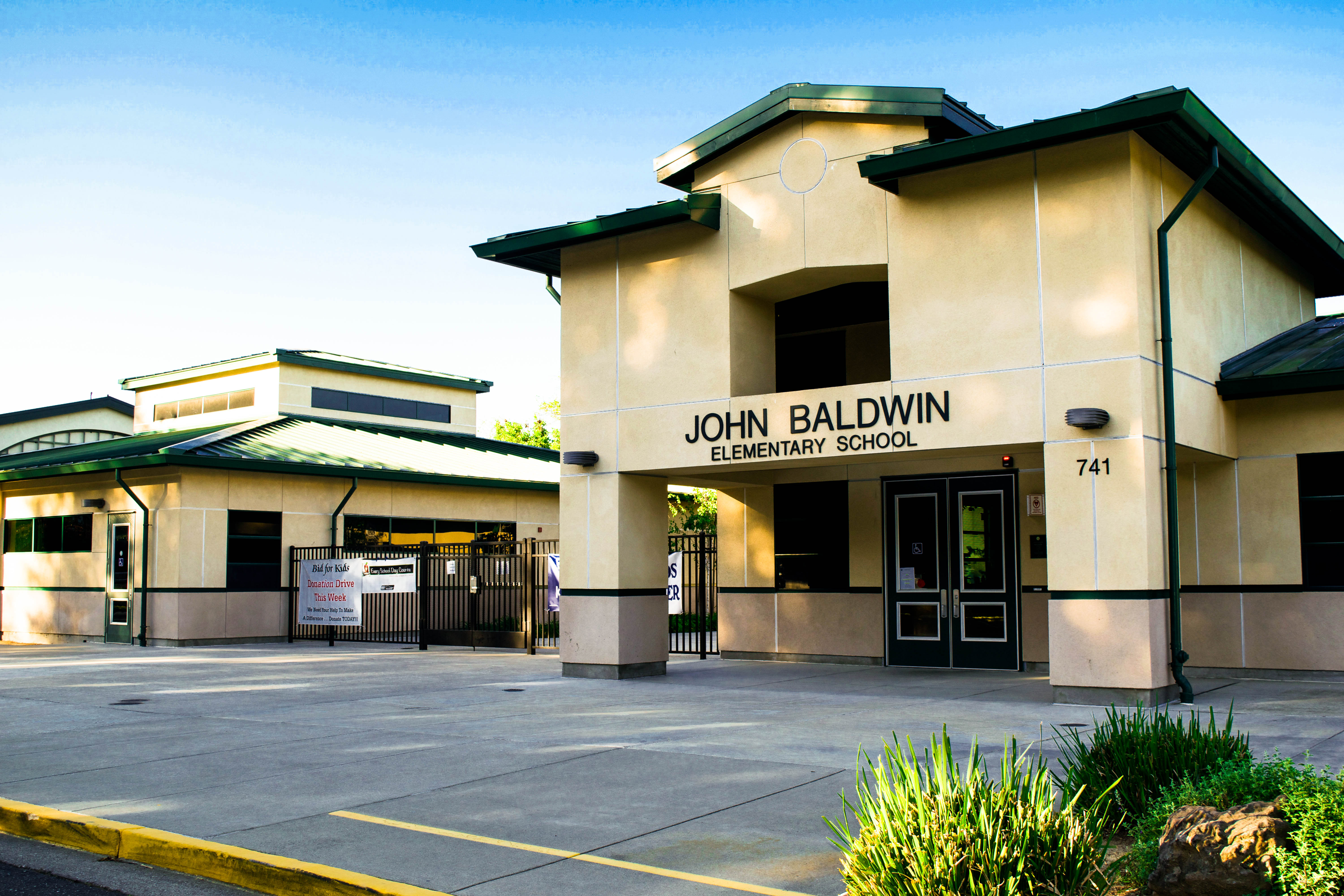 John Baldwin Elementary School main entrance