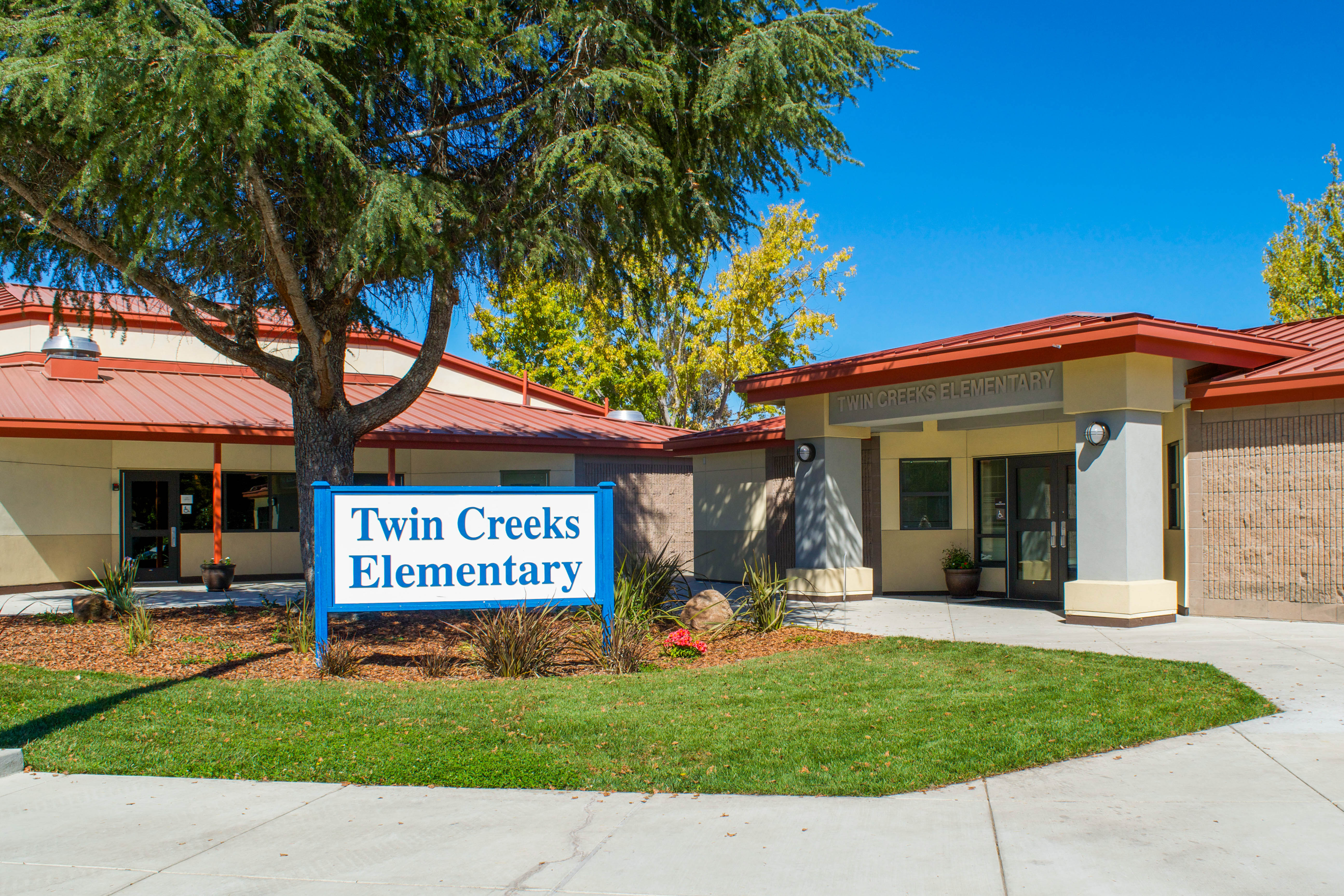 Twin Creeks Elementary School main entrance