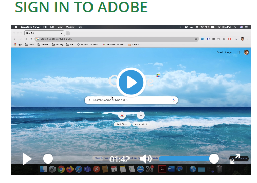 Sign in to Adobe
