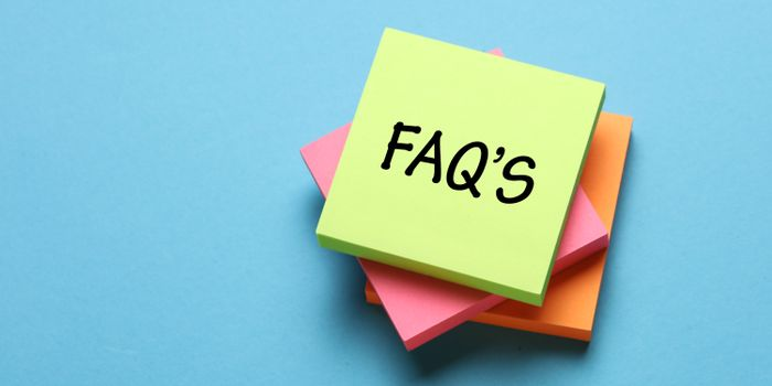 graphic of FAQ on a post-it note