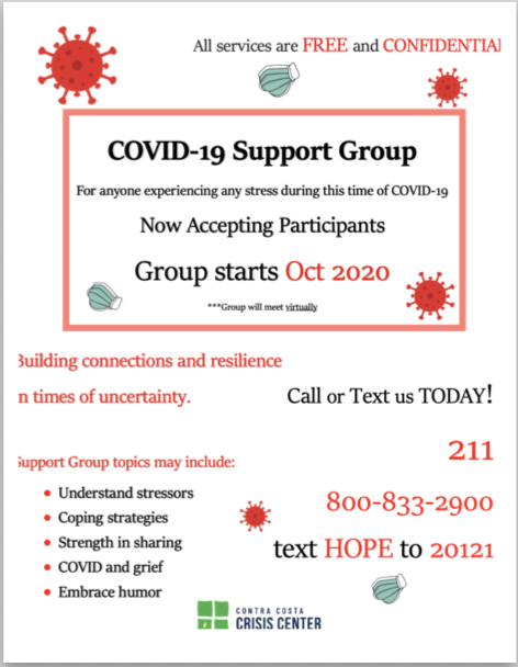 Covid 19 support flyer