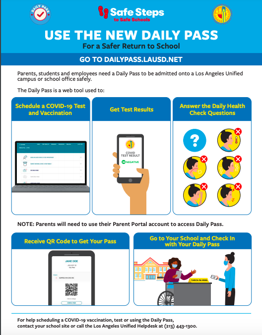 English flyer for the Daily Pass web site