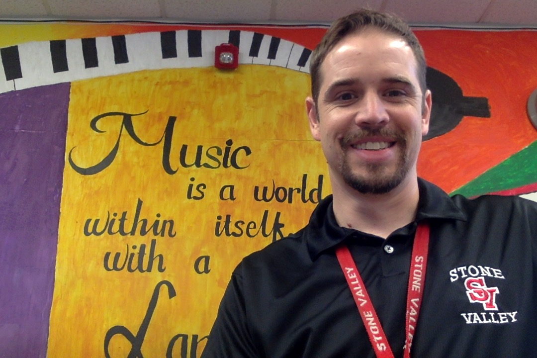 Mr. L in the Old Music Room
