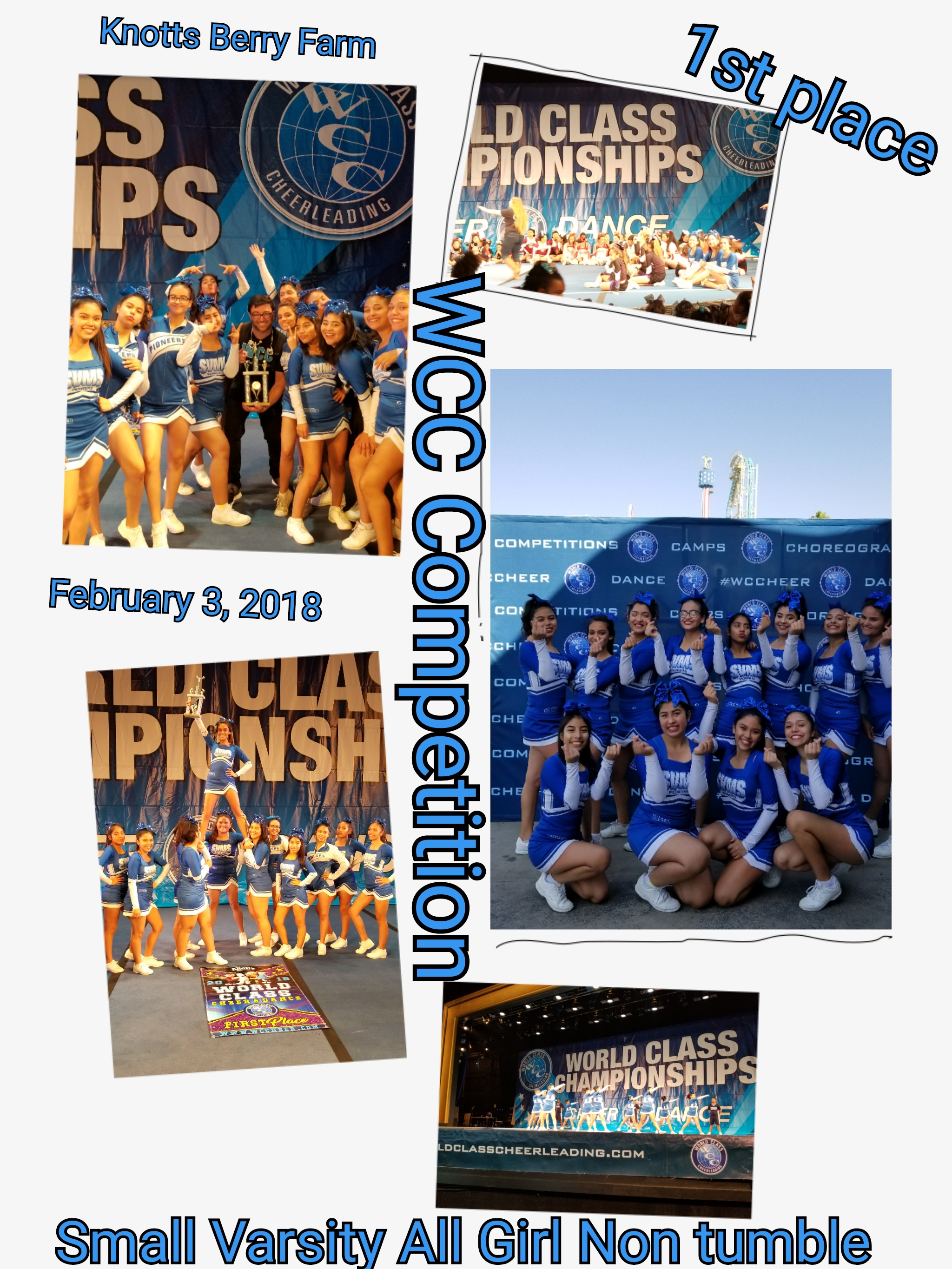 KNOTTS BERRY FARM- WCCheer competition 2/3/2018