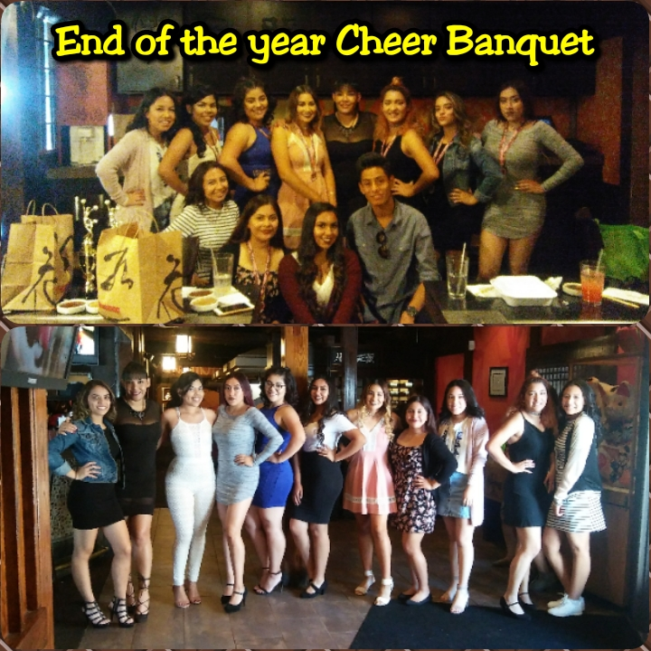 End of the year Cheer Banquet @ Benihans Restaurant- 5/27/17