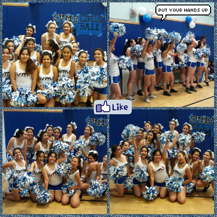Cheer Squad@Volleyball Game 10/17/16