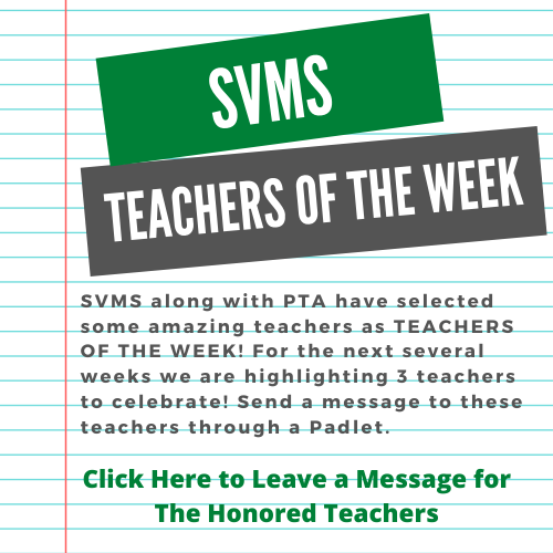 Teachers of the Week