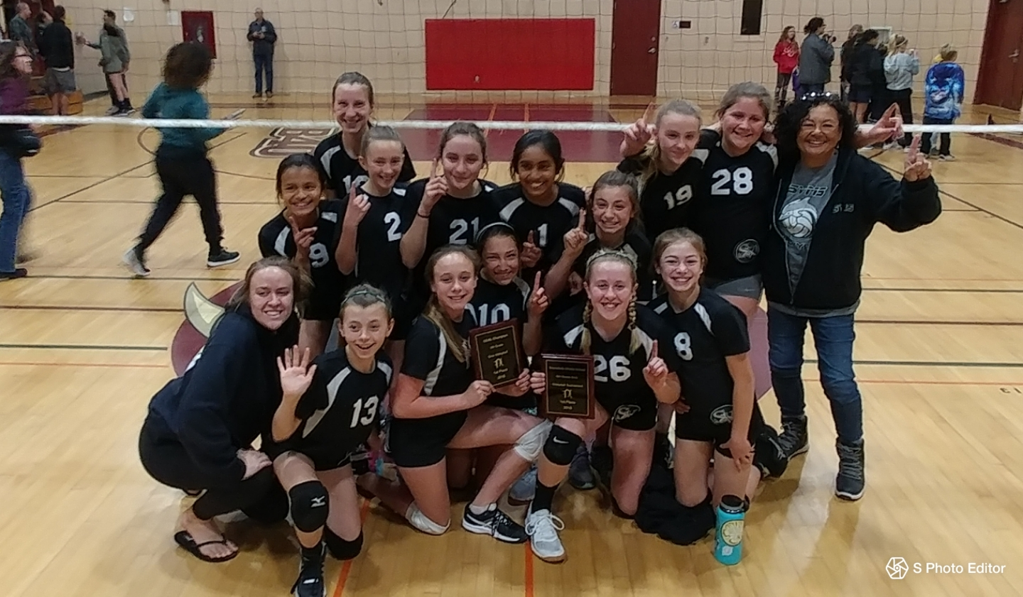 2017-18 6th Grade Girls Volleyball WIN IT ALL!!!