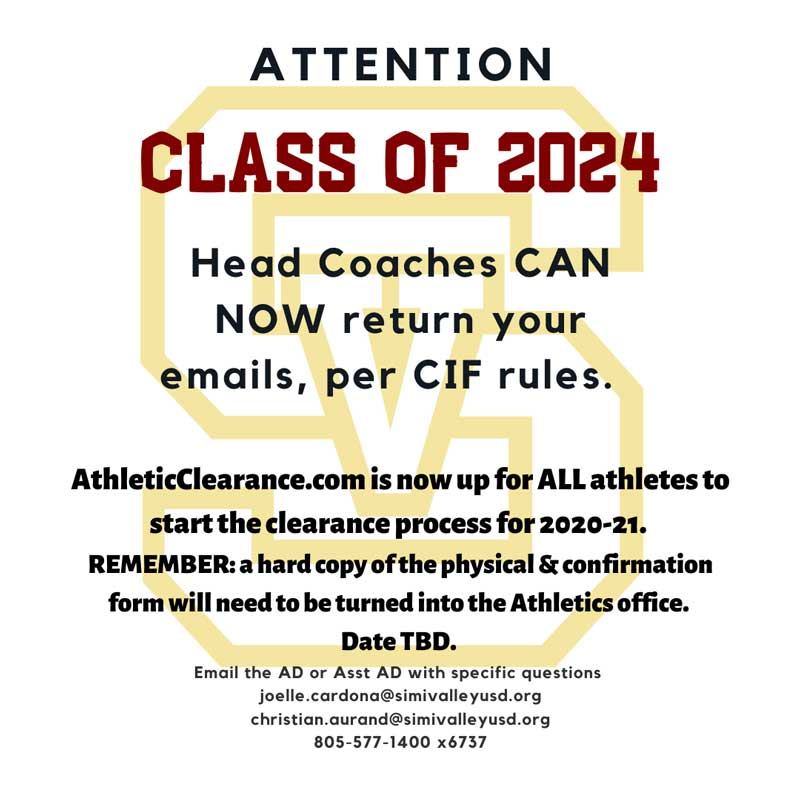 20-21 Athletes' Clearance