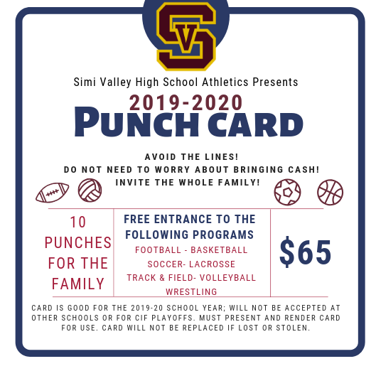 All Sports Pass PUnchcard