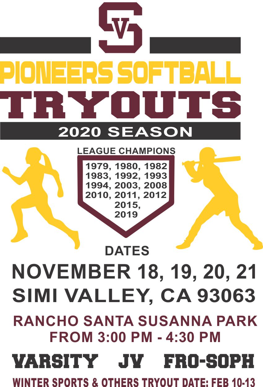 PIONEERS SOFTBALL TRYOUTS