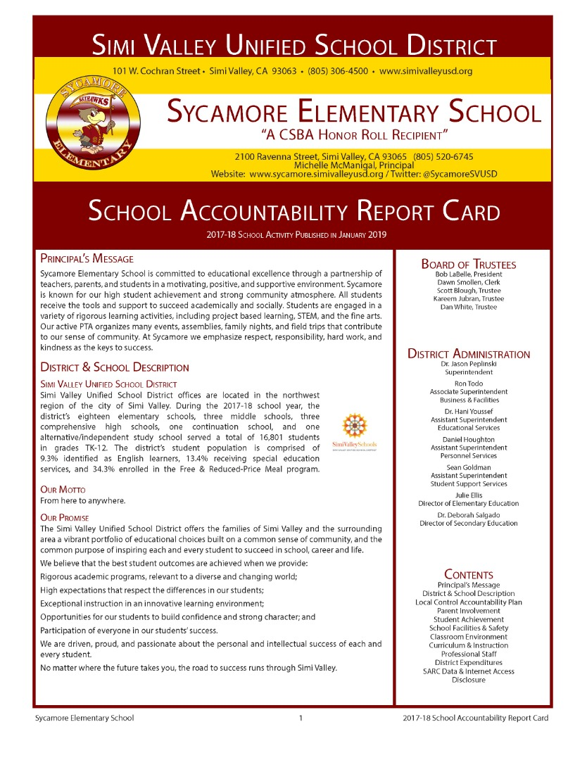 SARC Report Page 1