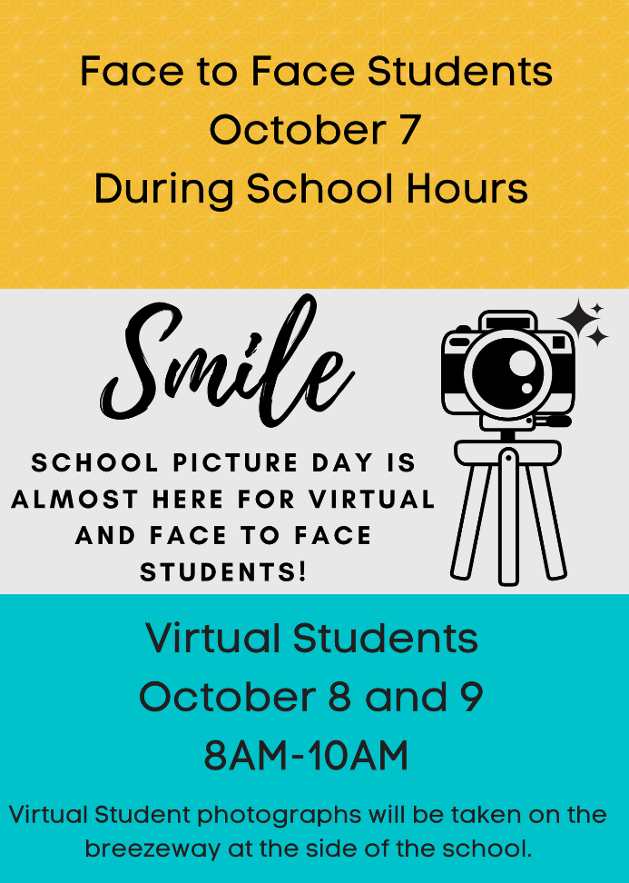 School picture day announcement.