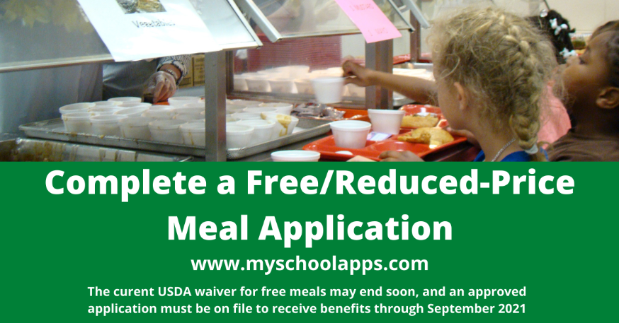 free or reduced lunch application