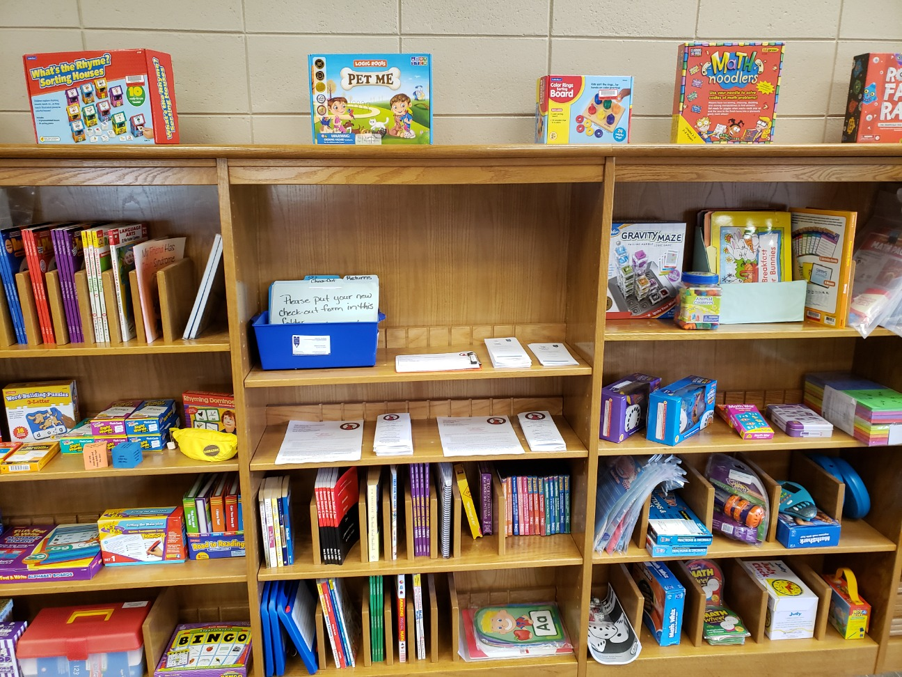 Some of the resources available in the Parent & Family Resource Center